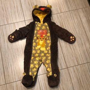 Disney born leader fuzzy snowsuit 6-12 months